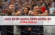 COTA 20.00 marita CASH pentru X2 la Craiova - Dinamo